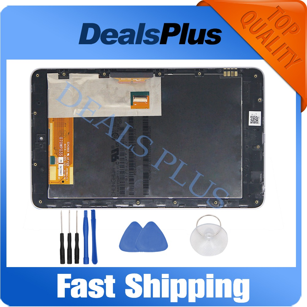 Replacement New LCD Display Touch Screen + Frame Assembly For Asus Google Nexus 7 Nexus7 2012 ME370T Wifi Black Free Shipping