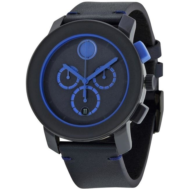 Movado Bold Leather Chronograph Mens Watch 3600349 movado 0606838