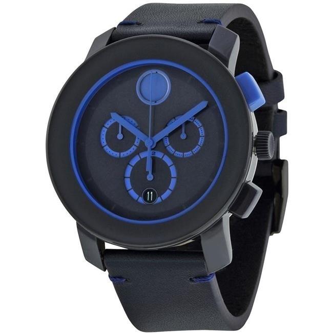 Movado Bold Leather Chronograph Mens Watch 3600349 movado 0607032