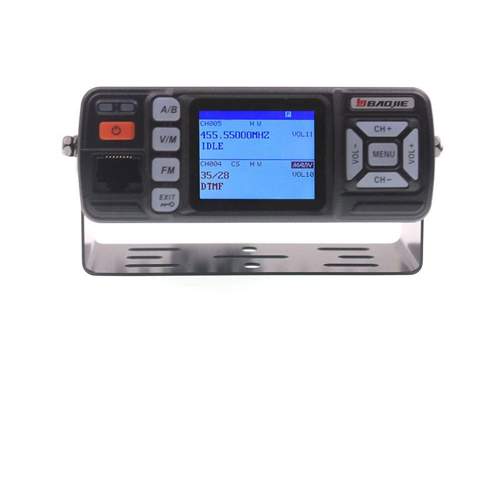 BAOJIE Walkie Talkie BJ-318 25W Dual Band 136-174&400-490MHz Car FM Radio BJ318 (upgrade version of BJ-218)