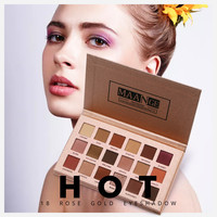 New Fashion 18 Colors Palettes Eyeshadow Makeup Concealer Professional Eye Shadow With 6Pcs Makeup Brushes Gifts Drop Shipping Eye