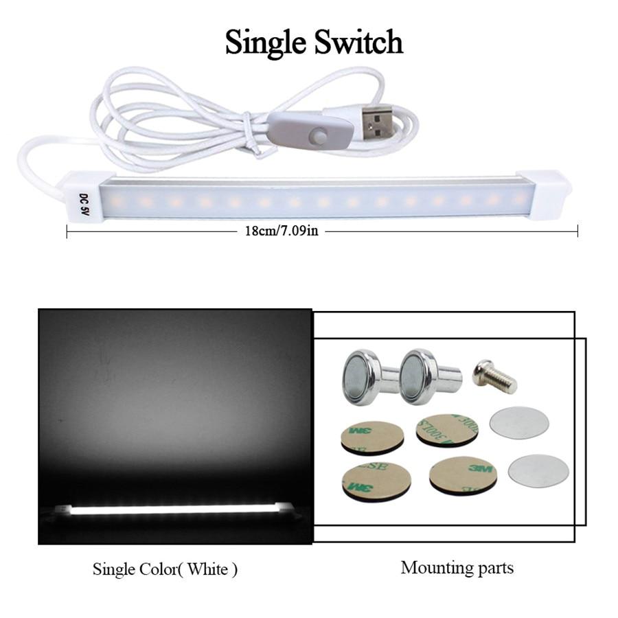 Super Rigid Strip LED Bar Light 5W 35cm USB Light Bar 3W 18cm 2-meters Cable Dormitory Study Table Cabinet Bedside Desk Lamps