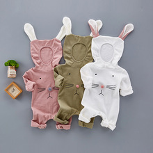 Spring Baby Rompers 100% Cotton Brand Baby Costumes Baby Boys Girls Clothes 3 6 9 Months Cute rabbit Infant Jumpsuit Clothing