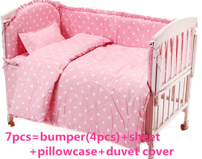 Promotion! 6PCS  baby bedding set 100% cotton  Duvet Cover ,crib cot sets baby bed bumper ,120*60/120*70cm promotion 6 7pcs baby cot bedding crib set bed linen 100% cotton crib bumper baby cot sets free shipping 120 60 120 70cm