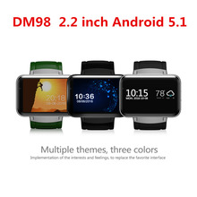 Newest DM98 Bluetooth Smart Watch Phone MTK6572 with 2G/3G SIM Camera Android 5.1 OS Clock Smartwatch Wristwatch 900mah GPS Wifi