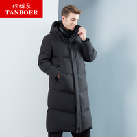 TANBOER men's down jacket winter coat goose down coats loose long style puffy windproof waterproof coats keep warm nylon TA18799