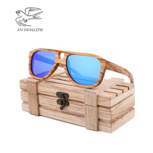 New spot cross-border hot selling natural environmental bamboo Sunglasses retro mens and womens sunglasses can beengraved LOGO