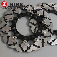 2 шт. передние плавающие тормозные диски ротора детали мотоцикла алюминий тормозные роторы для YAMAHA YZF600 R6 2003 2006 YZF1000 R1 2004 2006