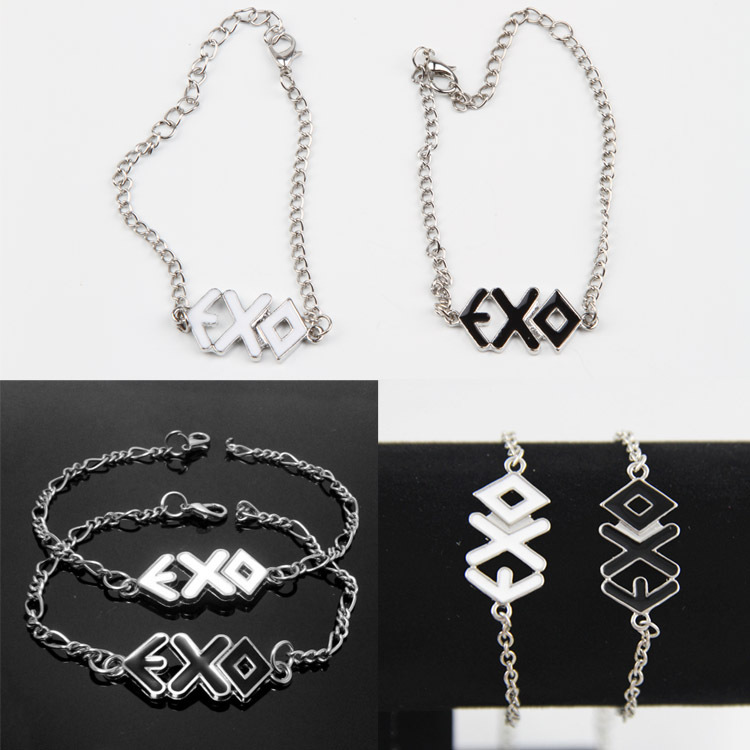 Hot Selling Exo Rope Cuff Bangles Lovers Bracelets 2 Colors Black White Charming Jewelery Accessories Jewelry & Accessories Charm Bracelets