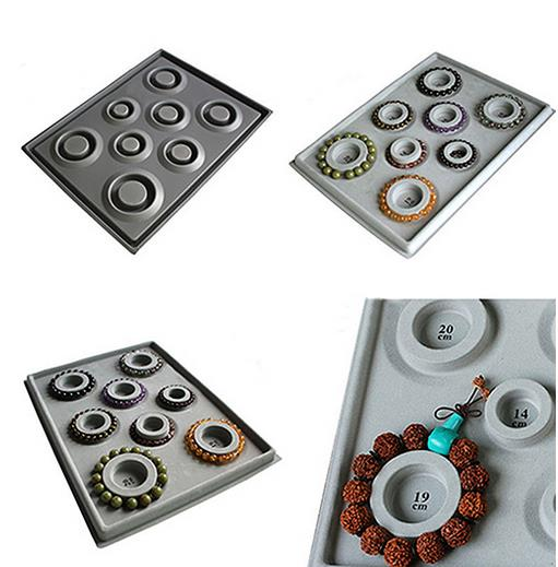 Bead Boards for Jewelry Making Bracelet,Beading Project Tray DIY Craft Tool with 8 Round Grooves for Bracelets