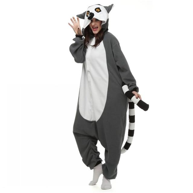 New Animal Ring Tailed Lemur Cosplay Pajamas Adult Long Tail Monkey