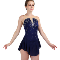 2019 sleevele figure skating dress woman girl kids adult crystal custom ice skating dress woman girl kids custom color size