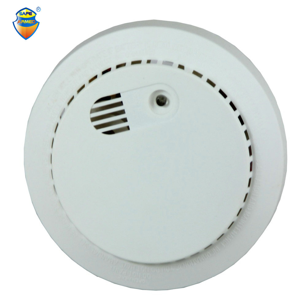 (4pcs) 2017 New Dual-voltage Smoke Detector 9v Battery Operated With 220v Safearmed Security Factory Fire Alarm