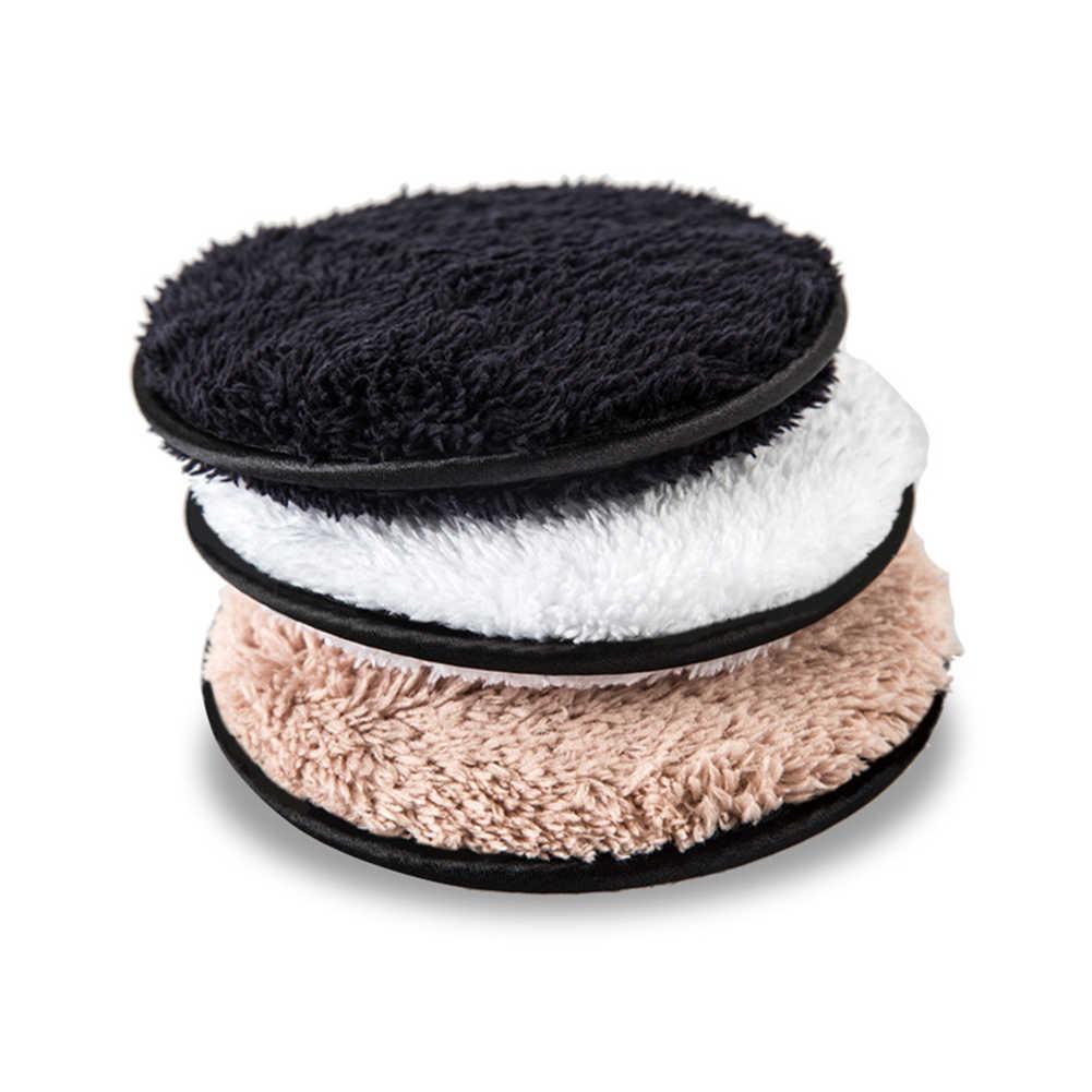 ELECOOL 1 ud. Superior de fibra suave de doble cara microfibra gamuza removedor de maquillaje Puff café/Blanco/Negro Color Lazy Makeup removedor Puff