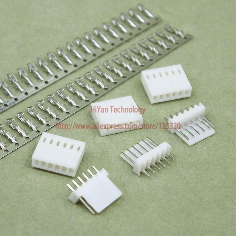 (100sets/lot) connector KF2510 2510 6Pin Pitch:2.54MM 0.1inch 180 Degree Pin Header + Terminal + Housing KF2510-6P