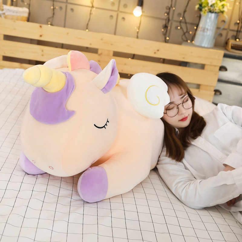 Большой Плюшевый единорог, мягкая красочная лошадка, мягкая подушка в виде животных, huggable кукла, подарок на Рождество, день рождения для девочек, детей