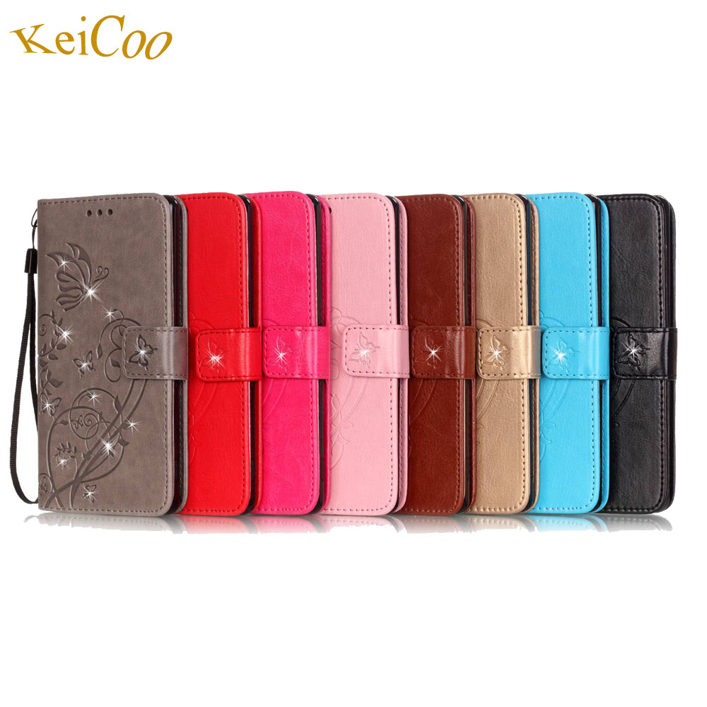 Bling Rhinestone Embossing Wallet Phone Covers For HUAWEI G Play ...