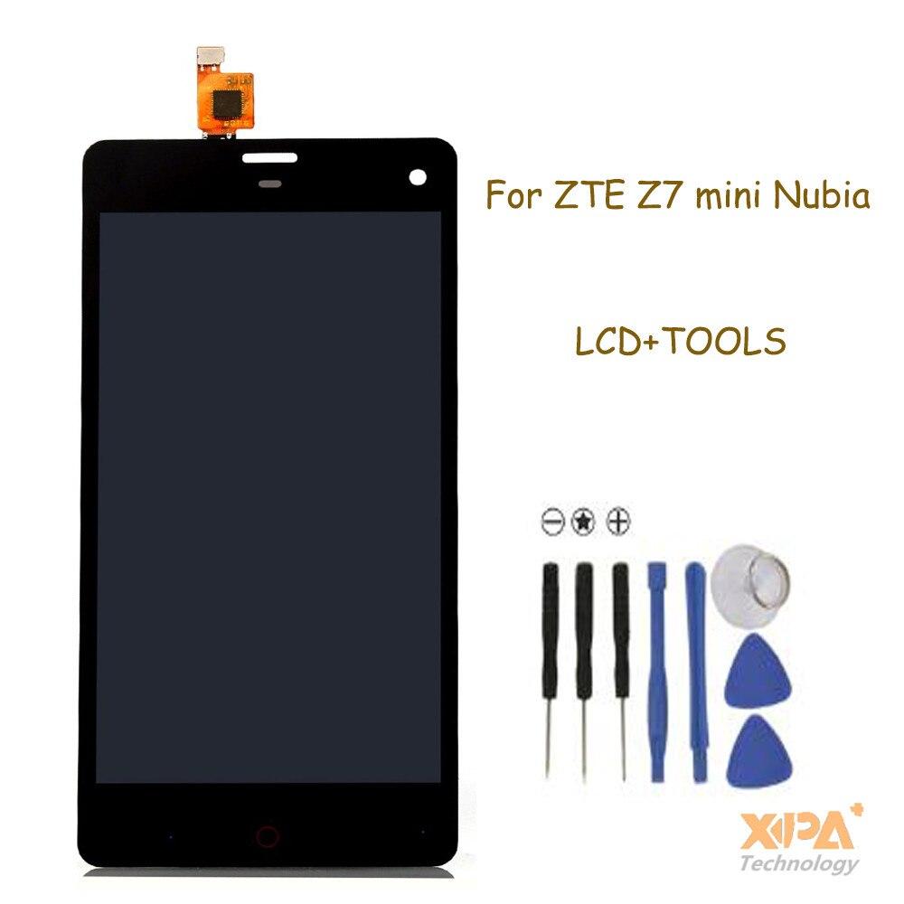 imágenes para Para ZTE Nubia Z7 mini LCD Display + Touch Screen Reemplazo Digitalizador Asamblea Pantalla 100% Original Para ZTE Nubia Z7 Mini NX507J
