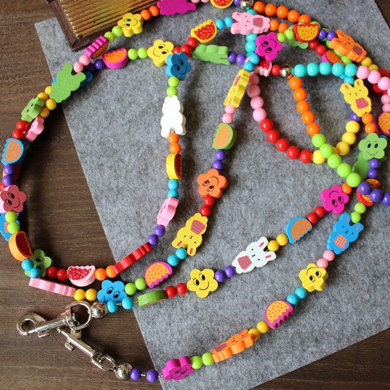 Nuevos Productos de Moda Para Mascotas De Colores Granos de la Correa Del Anima
