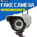 Energia Solar Câmera Emulational Falso Manequim Câmera Câmera de CCTV Uso Ao Ar Livre Bala À Prova D' Água Para A Segurança Home Com Flash LED