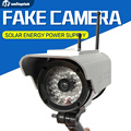 Solar Power Fake Camera Dummy Emulational Camera CCTV Camera Bullet Waterproof Outdoor Use For Home Security With Flash LED