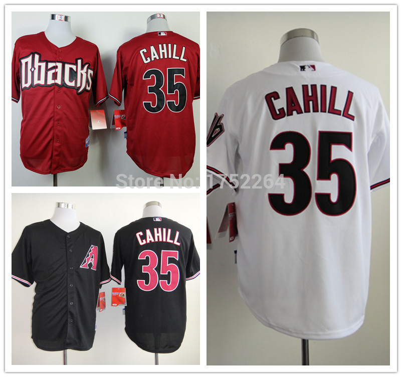 newest bbe20 790f6 Cheap New Freeshipping Men's 35 Trevor Cahill Baseball ...