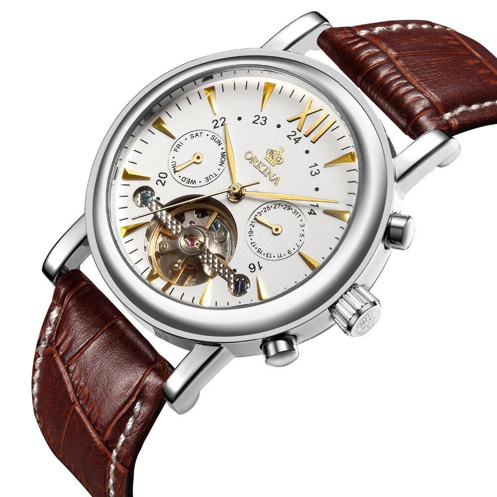 MG. ORKINA hommes montres Top marque de luxe hommes mode Sport montre-bracelet automatique mécanique Tourbillon joych relogio masculino