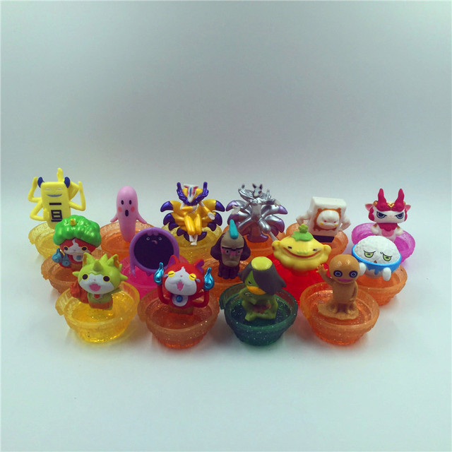 Yokai Часы Серии Jibanyan Komasan и Шепотом пвх игрушки 12 шт./компл. C X D12 1 221