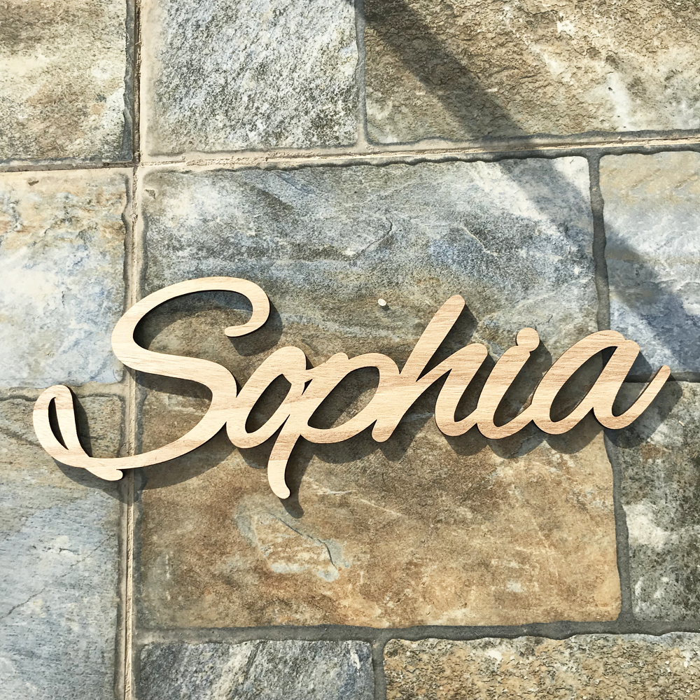 Pesonalized Names wood Signs Custom Name Sign Table Decor Wedding Table Wooden Letters Wood Baby Name Nursery 6