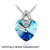 2016 Christmas Gift Hot Sale Crystal Heart Pendant Necklace Crystals From Swarovski Wholesale