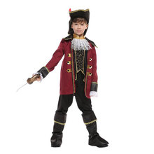Pirates of the Caribbean Captain Jack Sparrow Costumes for Boys Kids Child Halloween Purim Carnival Party Masquerade Outfit