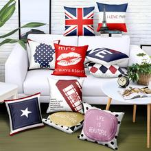 Customized Wholesale Letter Pillow Case Crystal Velvet Patchwork Print Logo Brand Advertising Gift Pillow Cover contrast tape letter print velvet tee