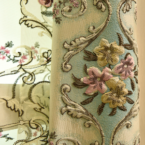 Image 2 - Top luxury jacquard 3D deer pattern curtains for living room with high quality embroidered tulle for bedroom/kitchen/hotel