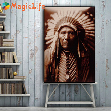 Portraits Decor Wall Art Canvas Painting Nordic Poster Pictures for Living Room Decorative Unframed