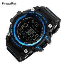 Bounabay 2017 impermeable relojes digitales para los hombres digitais reloj en marcha automática mens hombre digitales choque reloj táctico