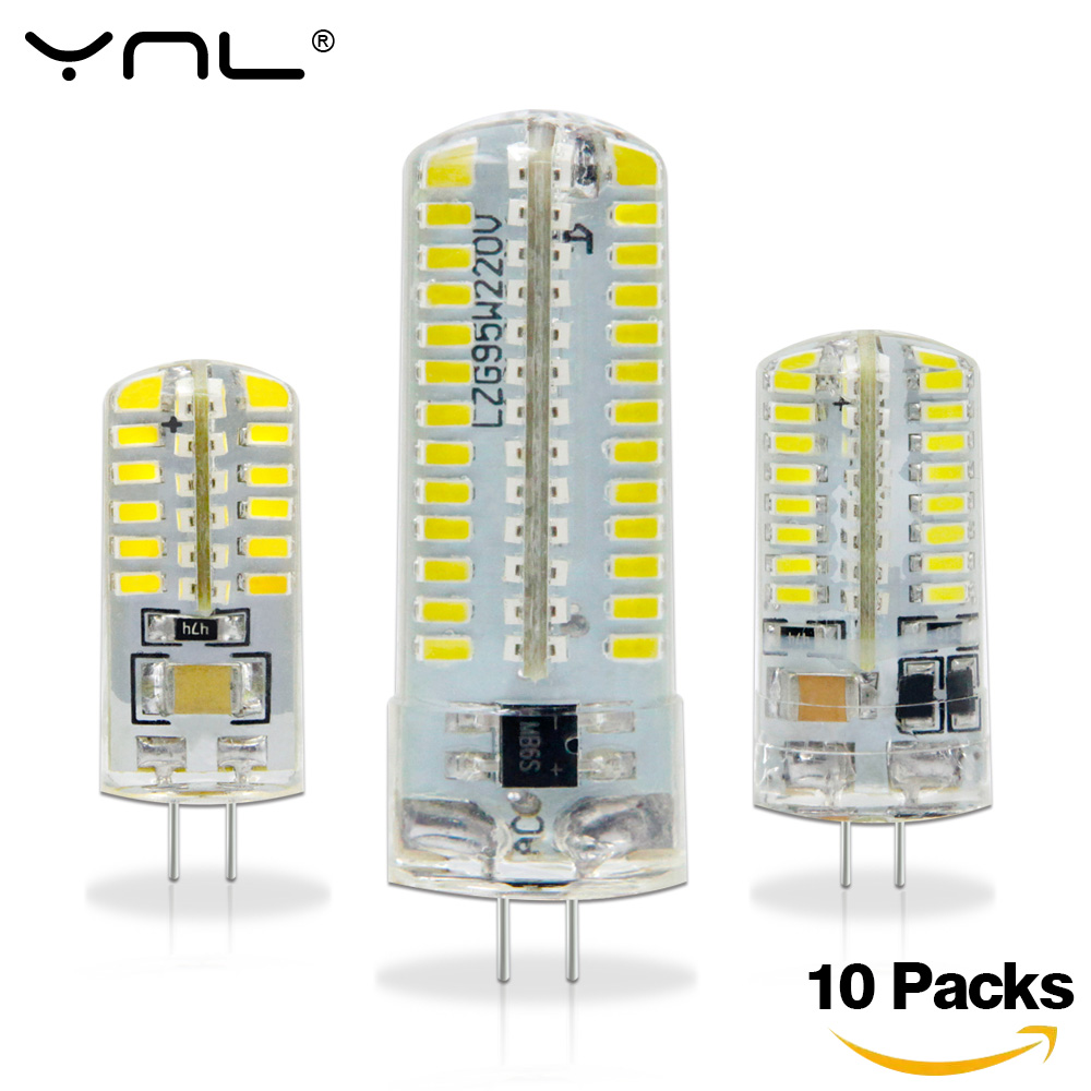 YNL 10pcs/lot G4 Led Lamp 12V 220V 3w 2w 1w SMD 2835 3014 Angle Luz Bombillas Lampada de LED Light Bulb Spotlight Lamps