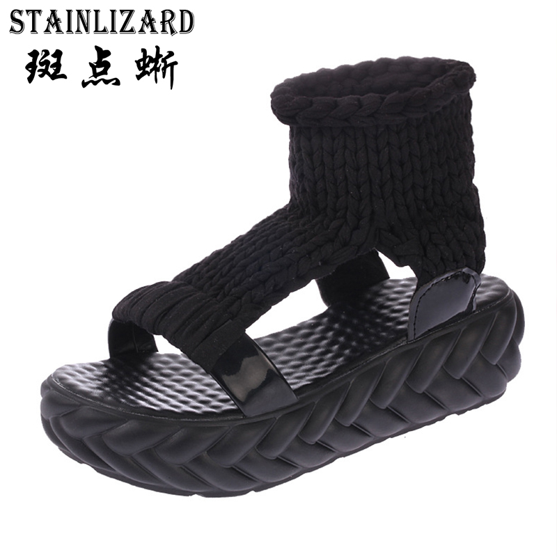 Spring Summer Casual Women Sandals Ladies Rubber T-strap Sandals Comfortable Female Flat Platform Footwear Women Shoes BT706 women sandals 2017 summer shoes woman wedges fashion gladiator platform female slides ladies casual shoes flat comfortable