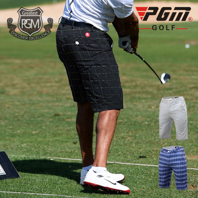 цена на PGM Ultra-thin 2018 New Golf/Tennis/Baseball Male Short High Quality Summer Dry Fit Plaid Men Trousers Clothes Apparel XXS-XXXL