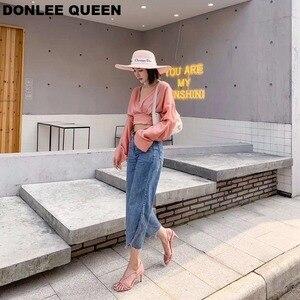 Image 3 - 新しい夏ブランドサンダルセクシーなハイヒールオープントゥグラディエーターサンダル女性狭帯域バックルストラップドレス靴 sandalias mujer 2019
