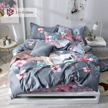 Liv-Esthete Modern Flower Pastoral Bedding Set Decor Double Duvet Cover Fitted Sheet Pillowcase Bed Linen For Adult Bedspread
