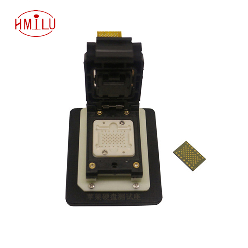 LGA60 NAND flash memory chip test socket jig fixture, changing serial number with FPC ddr4 sdram particle test fixture multi fuction all in one jig memory chip burn in socket excellent quality