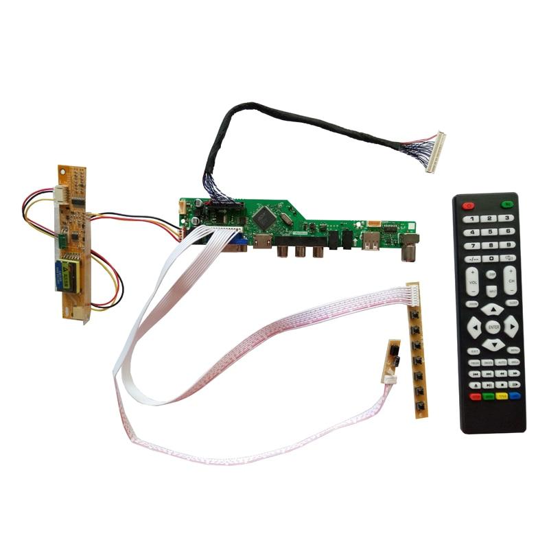 T.V56.031 15.4 인치 1280x800 LP154WX4-TLB4 CCFL LVDS 모니터 키트 용 새로운 범용 HDMI USB AV VGA ATV PC LCD 컨트롤러 보드