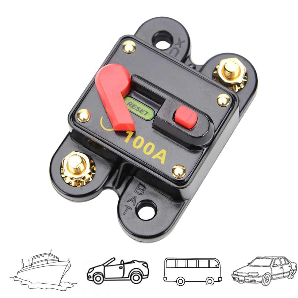 12V 100A Waterproof Marine Switch Circuit Breaker Switch Battery Quick  Disconnect Switch For Car SUV Marine Boat Accessories
