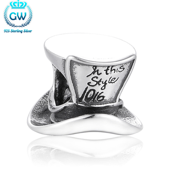 Изделия стерлингового серебра 925 джентльмен шляпа Бусины Талисманы Fit Марка brancelets DIY подарок друзьям бренд gw Jewelry t113