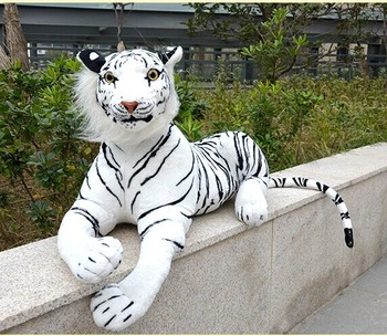 Authentic Simulation Toys Ultra-realistic Stuffed Plush Animal White Tiger Large 90cm High-grade Quality Free shipping