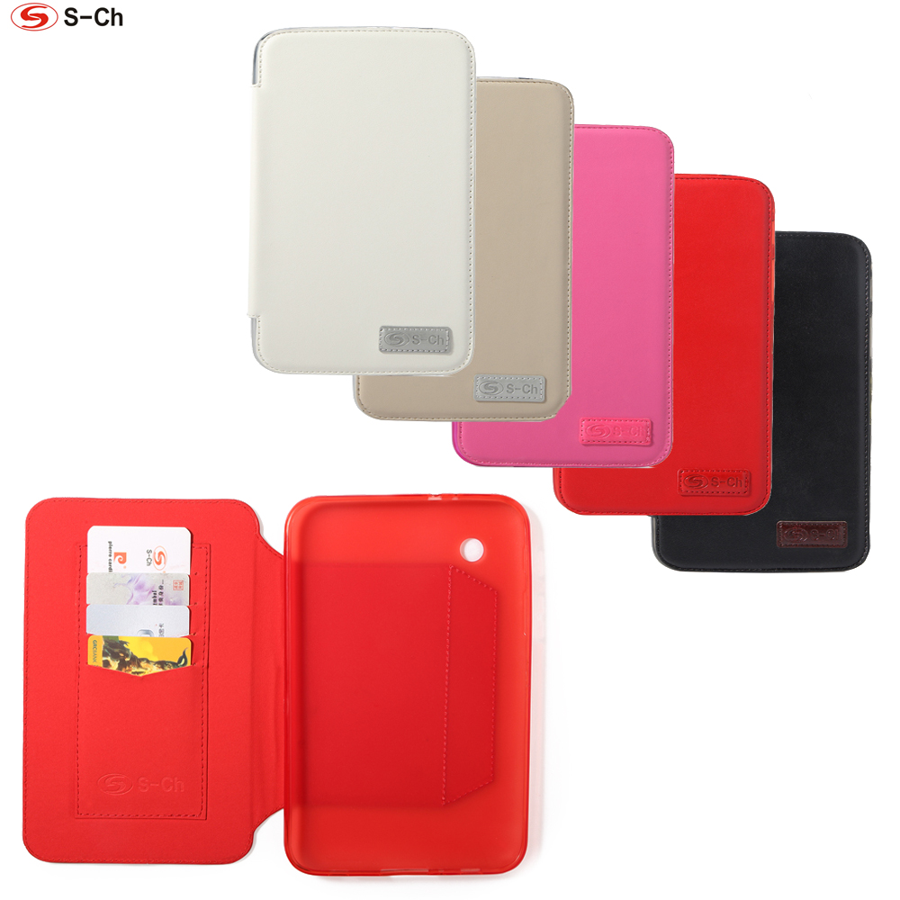 Flip Folding Cover For Samsung Galaxy Tab 2 7.0 P3100 P3110 PU Leather TPU Case Soft Faux High Quality Stand Protective Shell big ben pattern protective pu leather plastic case w stand for samsung galaxy s5 red brwon page 1
