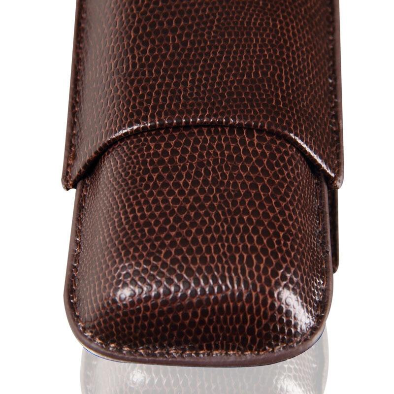 Top Grade Lizard Leather Cedar Wood Lining Cigar Case 2
