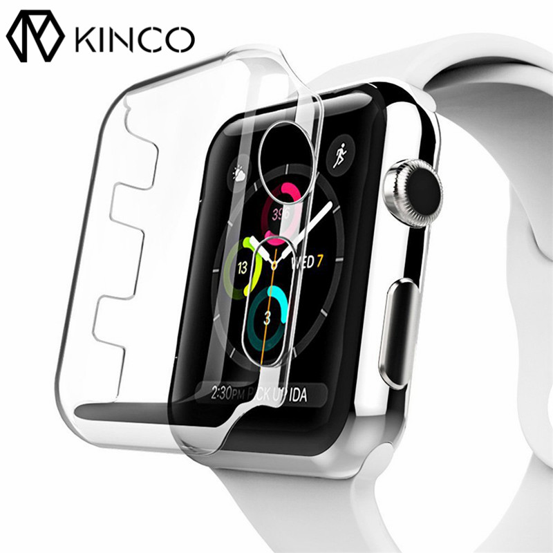 KINCO 38mm/42mm Case Cover Screen Protector Transparent 4H Protected Knocks Watch Cases for Apple watch for iwatch Series 3 4h v1448 291 bi t315xw02 screen