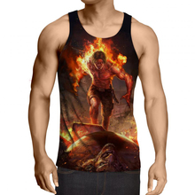 2017 Newest Men Fashion Summer 3d Anime One Piece Tank Tops Short Sleeveless T-shirt Bodybuilding Homme Brand Clothing 5XL R2954