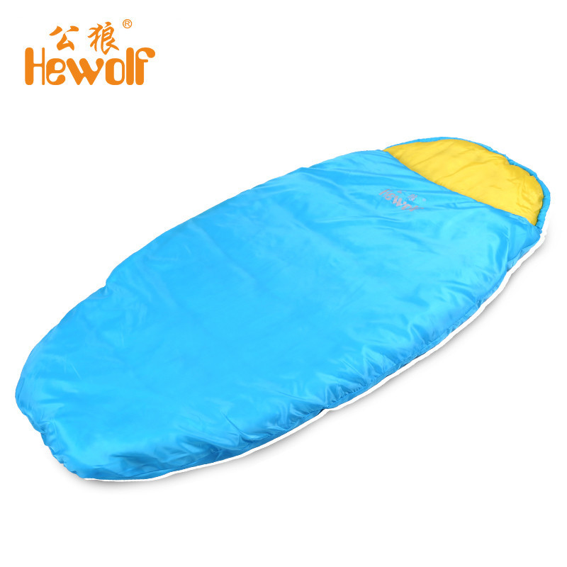 (190+30)*75cm Portable Hollow Cotton Envelope Sleeping Bag Camping Hiking Picnic Waterproof Soft Zipper Warn Sleep Lazy Bed Bags